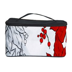 Poinsettia Flower Coloring Page Cosmetic Storage Case by Simbadda