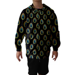Peacock Inspired Background Hooded Wind Breaker (kids) by Simbadda