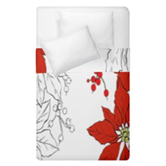 Poinsettia Flower Coloring Page Duvet Cover Double Side (single Size) by Simbadda