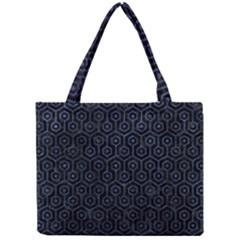 Hexagon1 Black Marble & Blue Stone Mini Tote Bag by trendistuff