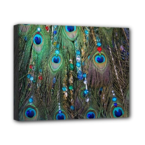 Peacock Jewelery Canvas 10  X 8  by Simbadda
