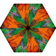 Watercolor Grunge Background Mini Folding Umbrellas by Simbadda