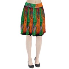 Watercolor Grunge Background Pleated Skirt