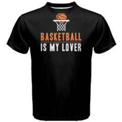 Basketball is my lover - Men s Cotton Tee by FunnySaying