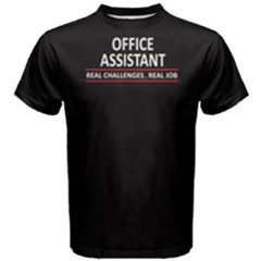 Black Office Assistant  Men s Cotton Tee by FunnySaying