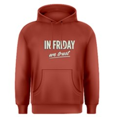 Red In Friday We Trust Men s Pullover Hoodie