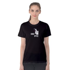 Black Home Office Women s Cotton Tee by FunnySaying