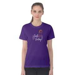 Purple Smile It s Friday Women s Cotton Tee by FunnySaying