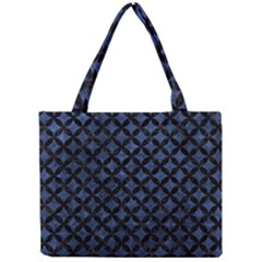 Circles3 Black Marble & Blue Stone (r) Mini Tote Bag by trendistuff