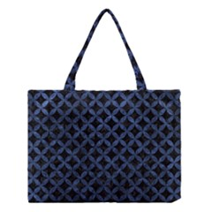 Circles3 Black Marble & Blue Stone Medium Tote Bag by trendistuff