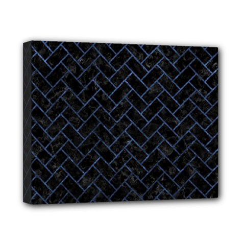 Brick2 Black Marble & Blue Stone Canvas 10  X 8  (stretched) by trendistuff