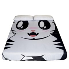 Meow Fitted Sheet (california King Size) by evpoe