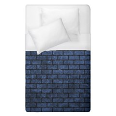 Brick1 Black Marble & Blue Stone (r) Duvet Cover (single Size) by trendistuff