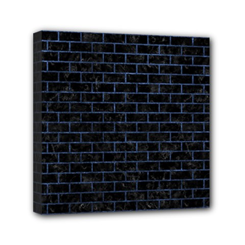 Brick1 Black Marble & Blue Stone Mini Canvas 6  X 6  (stretched) by trendistuff