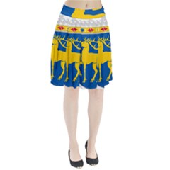 Coat Of Arms Of Aland Pleated Skirt