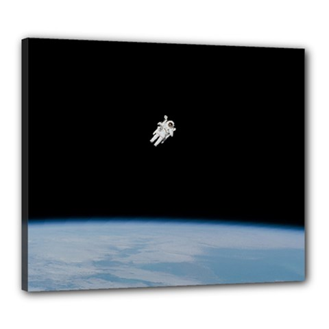 Amazing Stunning Astronaut Amazed Canvas 24  X 20  by Simbadda