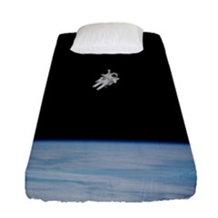 Amazing Stunning Astronaut Amazed Fitted Sheet (single Size) by Simbadda
