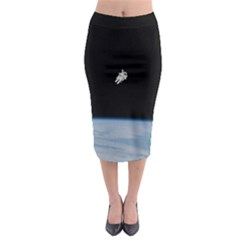 Amazing Stunning Astronaut Amazed Midi Pencil Skirt by Simbadda
