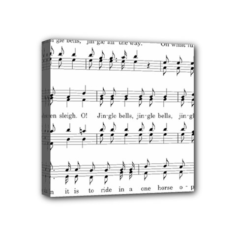 Jingle Bells Song Christmas Carol Mini Canvas 4  X 4  by Simbadda