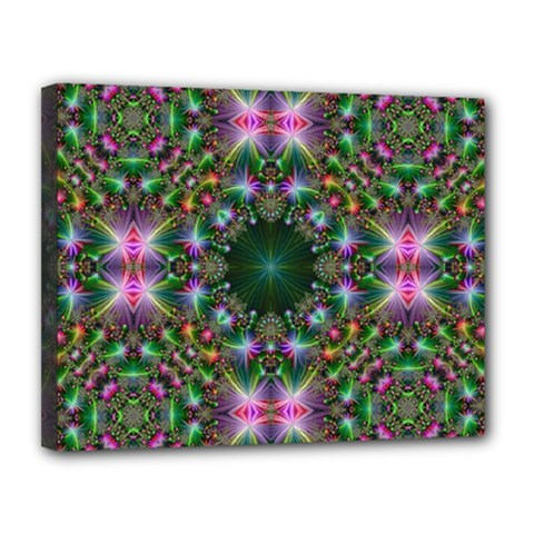 Digital Kaleidoscope Canvas 14  X 11  by Simbadda