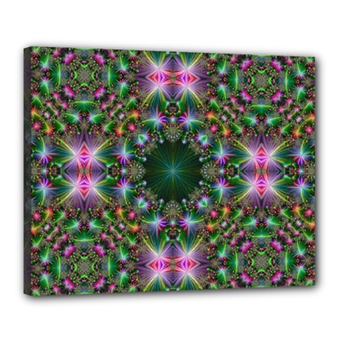 Digital Kaleidoscope Canvas 20  X 16  by Simbadda