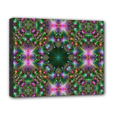 Digital Kaleidoscope Deluxe Canvas 20  X 16   by Simbadda