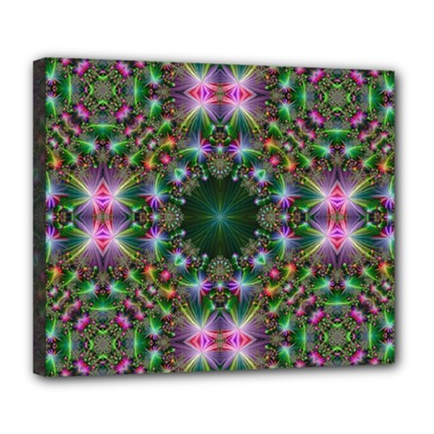 Digital Kaleidoscope Deluxe Canvas 24  X 20   by Simbadda