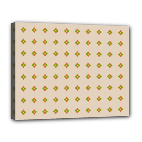 Pattern Background Retro Canvas 14  X 11  by Simbadda