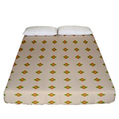 Pattern Background Retro Fitted Sheet (california King Size) by Simbadda
