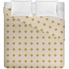 Pattern Background Retro Duvet Cover Double Side (king Size) by Simbadda