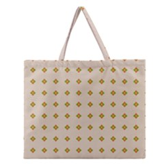 Pattern Background Retro Zipper Large Tote Bag by Simbadda