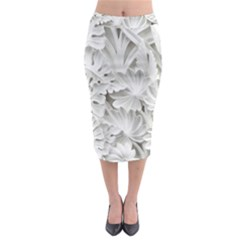 Pattern Motif Decor Midi Pencil Skirt by Simbadda