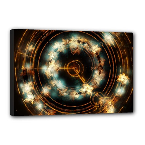 Science Fiction Energy Background Canvas 18  X 12  by Simbadda