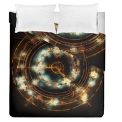 Science Fiction Energy Background Duvet Cover Double Side (queen Size) by Simbadda