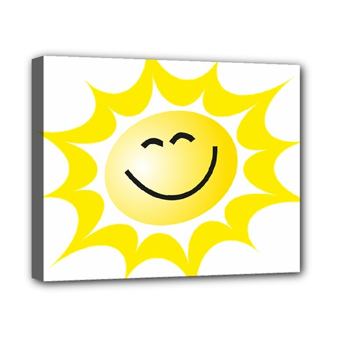 The Sun A Smile The Rays Yellow Canvas 10  X 8  by Simbadda