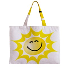 The Sun A Smile The Rays Yellow Zipper Mini Tote Bag by Simbadda