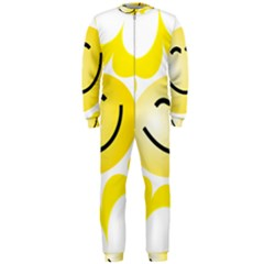 The Sun A Smile The Rays Yellow Onepiece Jumpsuit (men)  by Simbadda