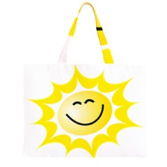 The Sun A Smile The Rays Yellow Zipper Large Tote Bag by Simbadda