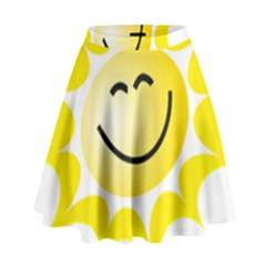 The Sun A Smile The Rays Yellow High Waist Skirt by Simbadda