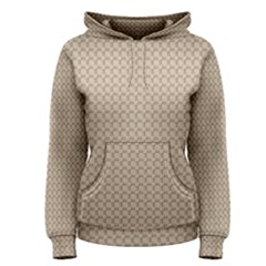 Pattern Ornament Brown Background Women s Pullover Hoodie by Simbadda