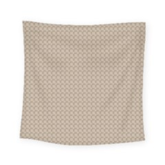 Pattern Ornament Brown Background Square Tapestry (small) by Simbadda