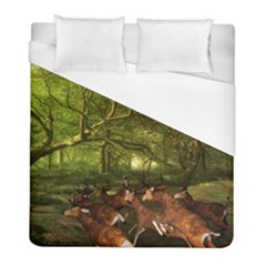Red Deer Deer Roe Deer Antler Duvet Cover (full/ Double Size) by Simbadda