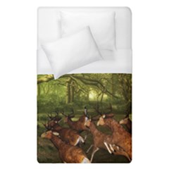 Red Deer Deer Roe Deer Antler Duvet Cover (single Size) by Simbadda