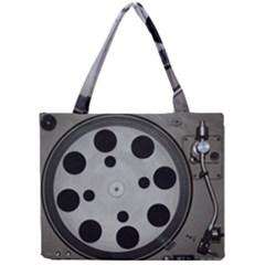 Turntable Record System Tones Mini Tote Bag by Simbadda