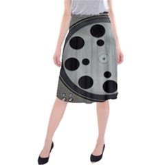 Turntable Record System Tones Midi Beach Skirt by Simbadda