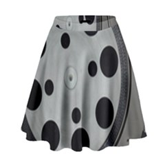 Turntable Record System Tones High Waist Skirt by Simbadda