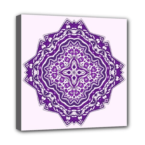 Mandala Purple Mandalas Balance Mini Canvas 8  X 8  by Simbadda