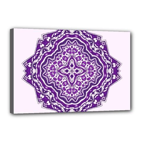 Mandala Purple Mandalas Balance Canvas 18  X 12  by Simbadda