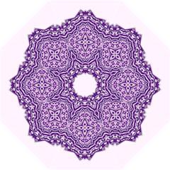 Mandala Purple Mandalas Balance Golf Umbrellas by Simbadda