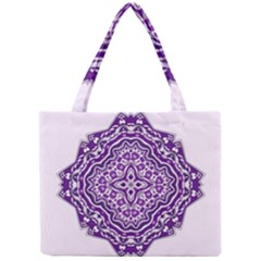 Mandala Purple Mandalas Balance Mini Tote Bag by Simbadda